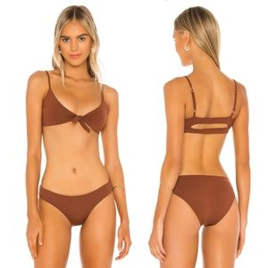 L*Space Flashback top + Sandy Bikini SET Tobacco